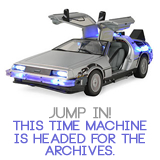 archive, rarasaur, archive post, random post, wordpress, delorean, time machine, time travel, back to the future
