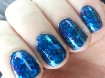 Four layers of blue and glitter polish later…