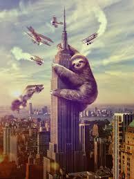 Sloth Kong decides to take a nap.