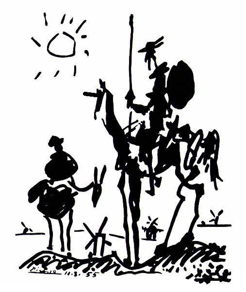 Pablo Picasso - Don Quixote (and his Unicorn)