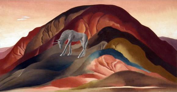 Georgia O'Keeffe - Rust Red (Unicorn) Hills