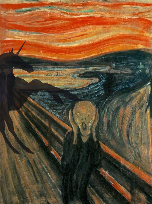 Edvard Munch - The Scream (and the Phantom Unicorn)