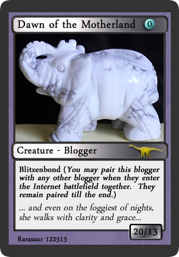 """Dawn of """"Tales from the Motherland""""  (PS - Dawn, the howlite lucky elephant is for healing energy to come your way in full!)"""