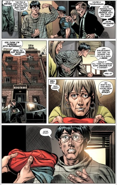 The New52 Superman is a blogger.  His landlady also kicks serious butt.  As expected-- go DC!