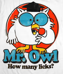 This owl is only concerned with real lollipops.