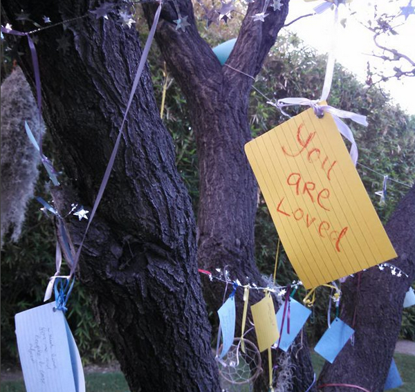 Okay, I take the blame for this one, but the rest were totally random! (YOU ARE LOVED- written for the Listening Tree outside of the Unity Church in Tustin, CA)